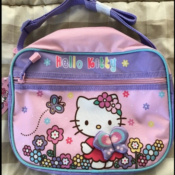 SANRIO HELLO KITTY MESSENGER BAG PURSE BUTTERFLY 6451bc5d57778
